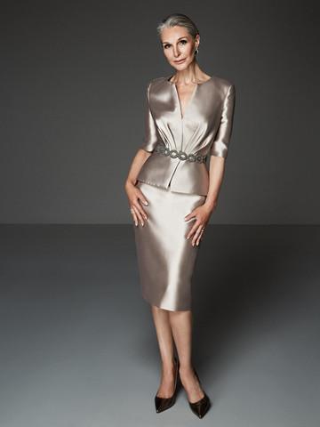 Вечернее платье коктейльное металлик