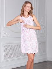 Vivamama. Сорочка для кормящих Nika, бабочки/светло-розовый вид 2