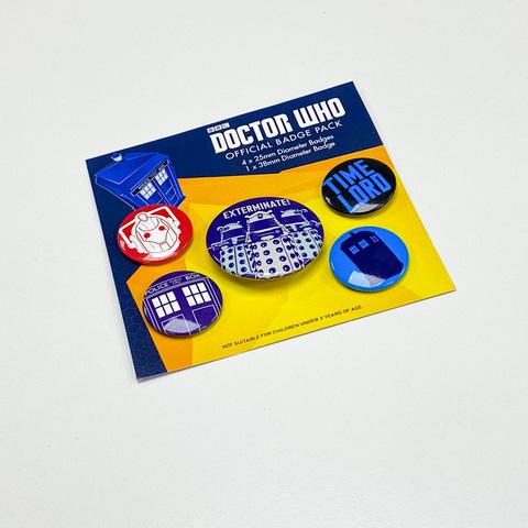 Набор значков Doctor Who (Exterminate)