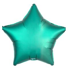 Шар звезда сатин зеленый