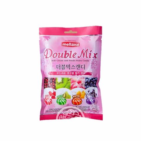 Карамель Melland Double Mix со вкусом вишни киви персика черники 100г Корея