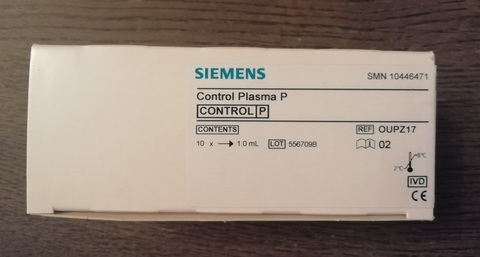 10446471/OUPZ17 Контрольная плазма P (патология), 10x for1ml S, 10*1 мл, Германия (Siemens Healthcare Diagnostics Products GmbH)