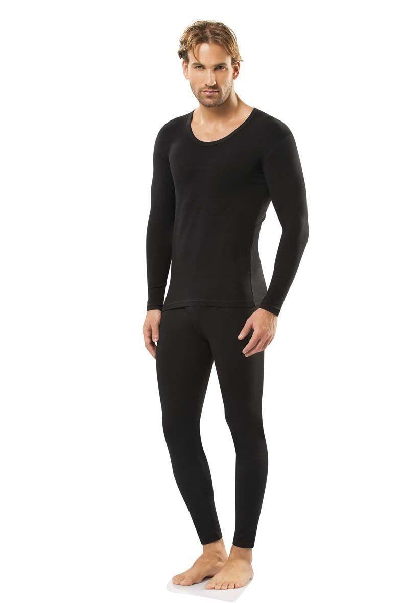Мужская футболка с длинным рукавом термо Doreanse черная 2965
