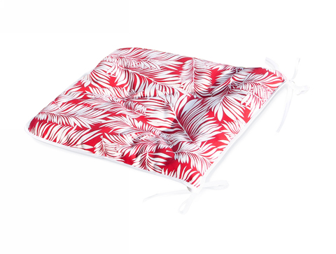 Сидушка на стул Пальма красный уличная коллекция