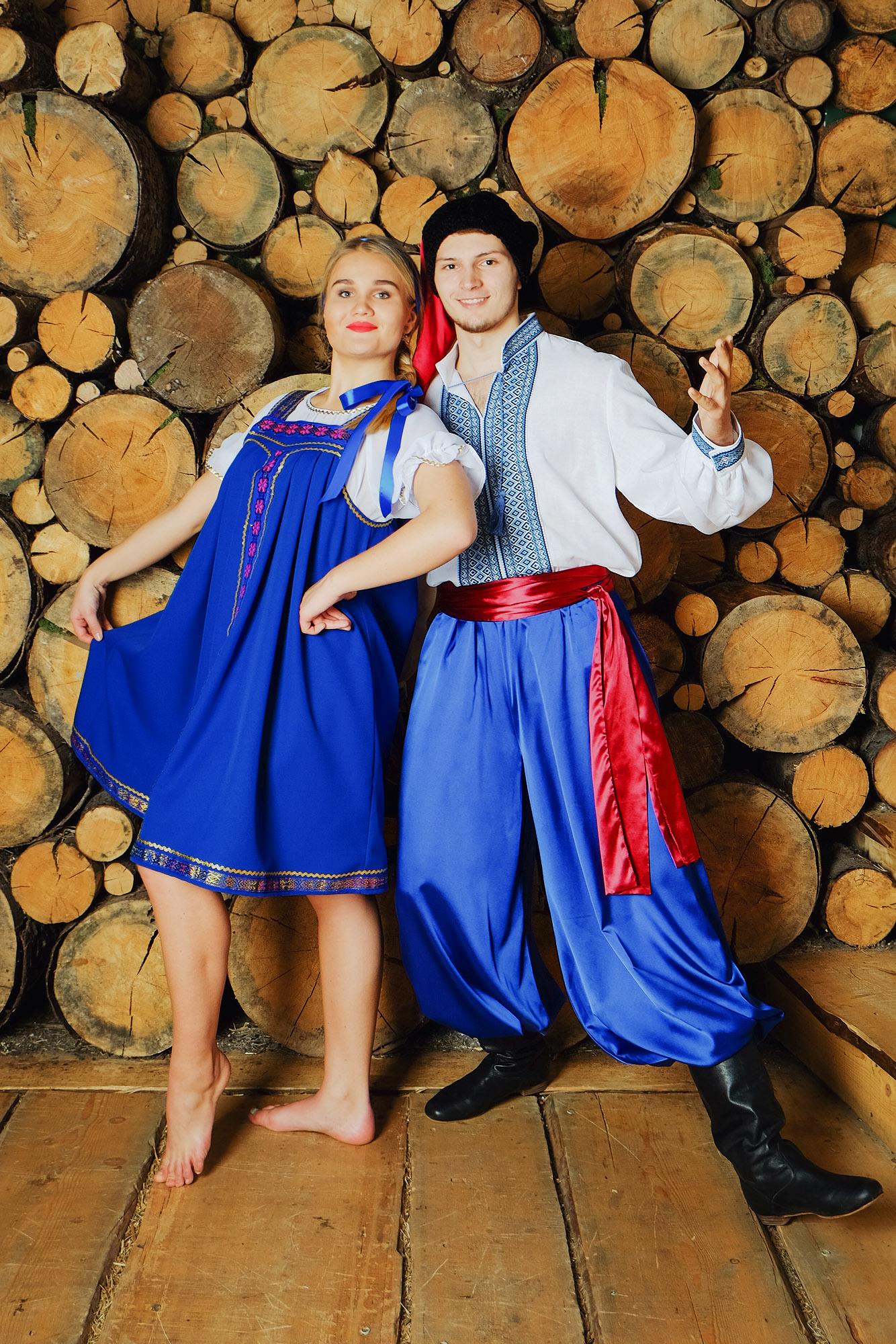 народный украинский костюм с кушаком