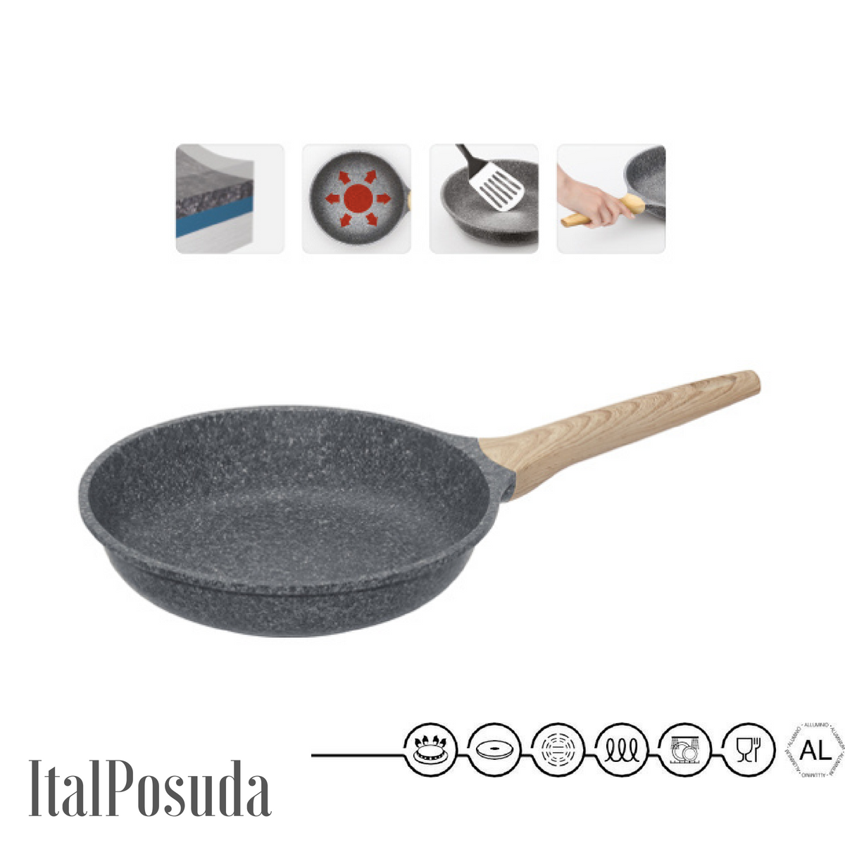 Сковорода NADOBA MINERALICA, 24 см