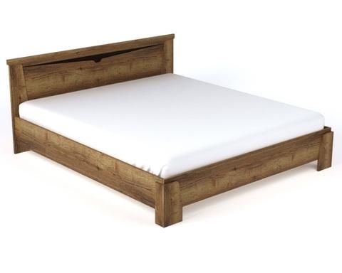 Кровать (каркас) ГАРДА дуб галифакс табак