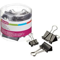 Зажимы для бумаг Attache 19/25/32 мм черные (12 штук в упаковке)