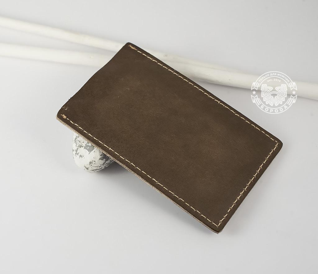 BY07-02-04 Кожаный футляр для карточек «Самое Дорогое», тиснение фото 03