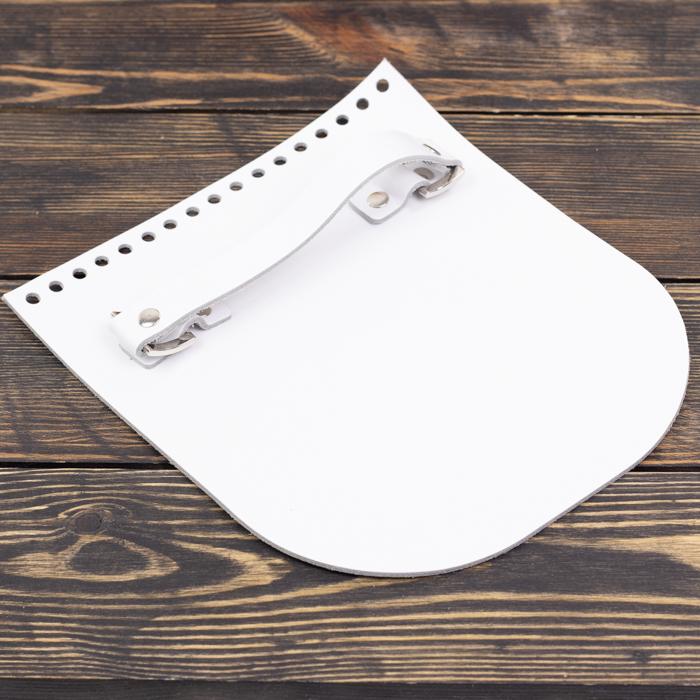 """Вся фурнитура Клапан для сумочки с ручкой кожаный """"Белый"""" IMG_8042.jpg"""