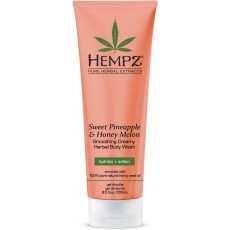 Hempz - Средства для душа: Гель для душа Ананас и Медовая Дыня (Sweet Pineapple & Honey Melon Herbal Body Wash), 250мл