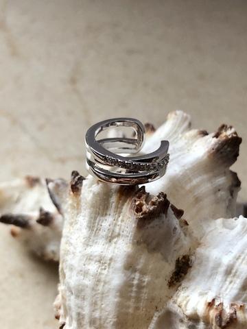 Кафф Арна 3 переплетения, серебряный цвет