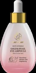 HANIxHANI Ампульная сыворотка для лица с муцином улитки и коллоидным золотом White Intensive Gold & Snail Eye Ampoule 50 мл