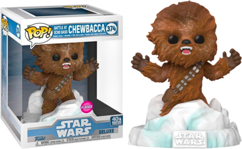 Фигурка Funko Pop! Deluxe: Star Wars Episode V: The Empire Strikes Back - Chewbacca Battle at Echo Base (Flocked) (Excl. to Amazon)