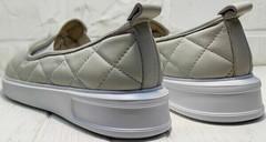 Слипы женские туфли на платформе 2,5 см Alpino 21YA-Y2859 Cream.