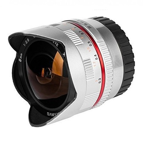 Объектив Samyang 8mm f/2.8 CS Fisheye Silver для Sony E