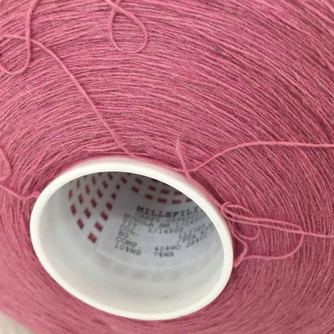 Смесовка с кашемиром (10%) и ангорой (7%) MILLEFILI NUVOLA 1/1450 темно-розовый