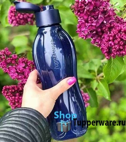 эко бутылка 1л в темно-синем цвете