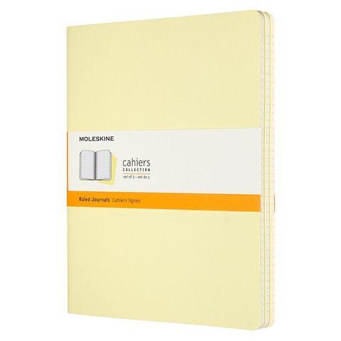 Блокнот Moleskine CAHIER JOURNAL CH021M23 XLarge 190х250мм обложка картон 120стр. линейка нежно-желтый (3шт)