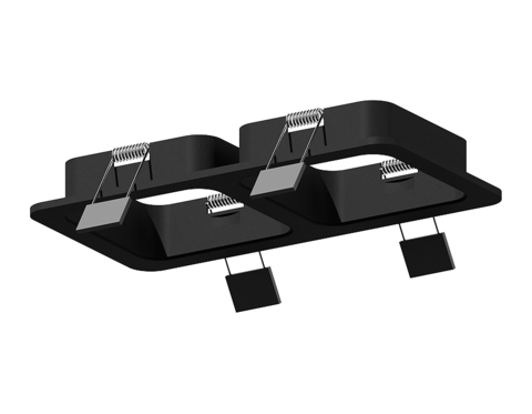 Корпус светильника встраиваемый для насадок 70*70mm C7906 SBK черный песок 180*90*H32mm MR16 GU5.3
