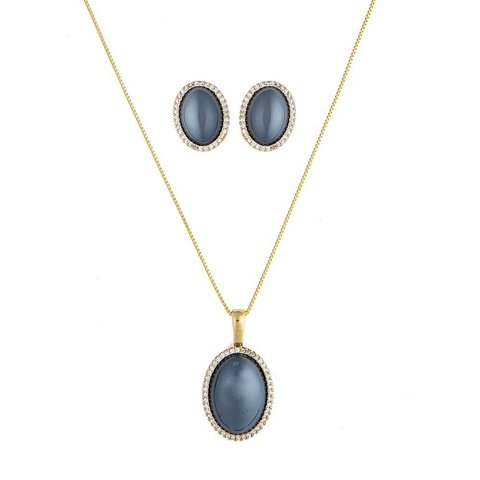 Комплект pearl black agate S3527.4 BW/G
