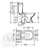 Унитаз напольный с бачком  Migliore Gianeta ML.GNT-25.802.D1 с декором и фронтальной ручкой смыва схема