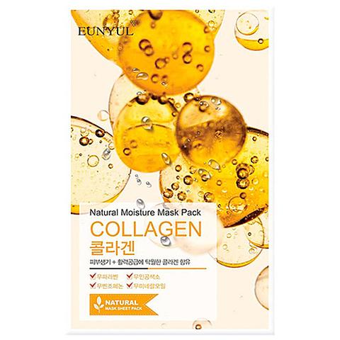 Eunyul Маска тканевая с коллагеном - Natural moisture mask pack collagen, 22 мл