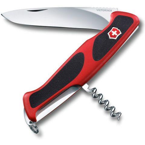 Нож перочинный Victorinox RangerGrip 52 (0.9523.C) 130мм 5функций красный/черный