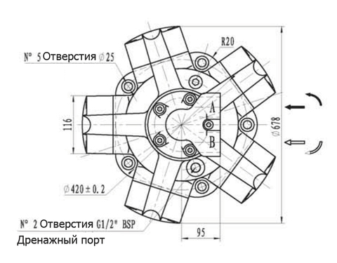 Гидромотор IPM8-2450