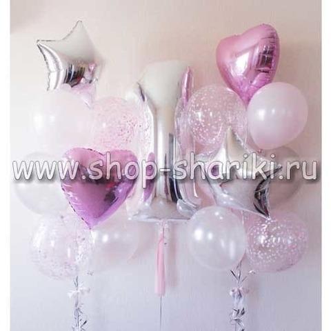 композиция из шаров на день рождения девочке
