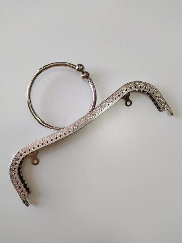 Фермуар для сумки, Цвет: серебро. 22 см