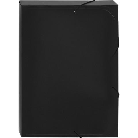 Папка-короб на резинках Attache А4 пластиковая черная (0.45 мм, до 350 листов)
