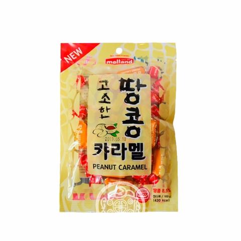 Карамель Melland Peanut Caramel со вкусом арахиса 100г Корея