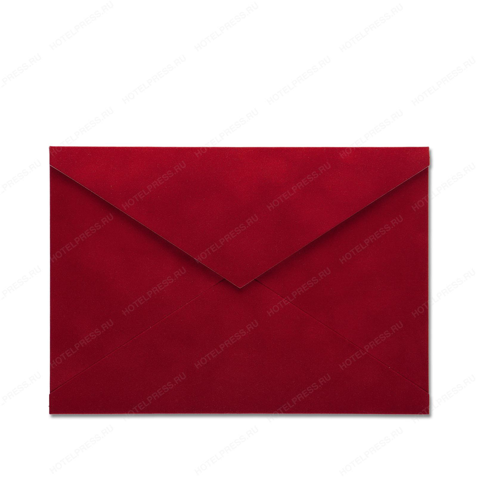 Цветные бархатные конверты на заказ
