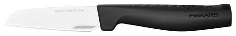 Нож кухонный Fiskars Hard Edge (1051777) стальной для чистки овощей и фруктов лезв.88мм прямая заточка черный