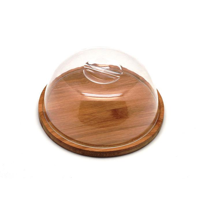 Доска разделочная круглая с пластиковой крышкой 18 х 9 см, артикул 9041, производитель - Hans&Gretchen