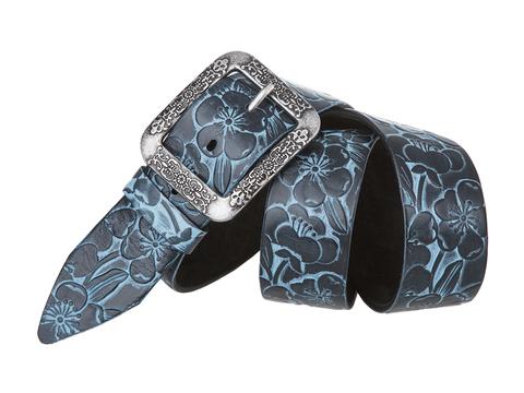 Женский джинсовый синий ремень из кожи Mayer B 40-419