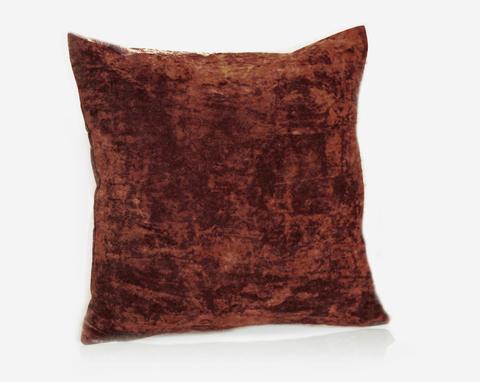 Подушка декоративная Бархат бордово-коричневый