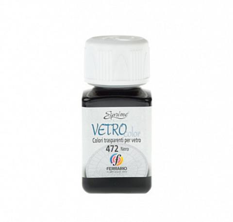 Краска по стеклу Ferrario Vetro Color 50 мл №472 чёрный