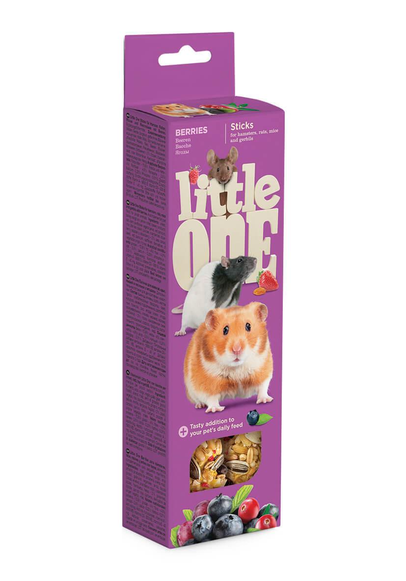 Лакомства Палочки Little One для хомяков, крыс, мышей, песчанок с ягодами (2х55 гр) Sticks_berries.jpg