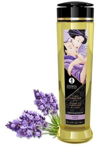 Массажное масло с ароматом лаванды Sensation - 240 мл.