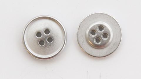Пуговица металлическая, двусторонняя, цвет светлый металл, 18 мм