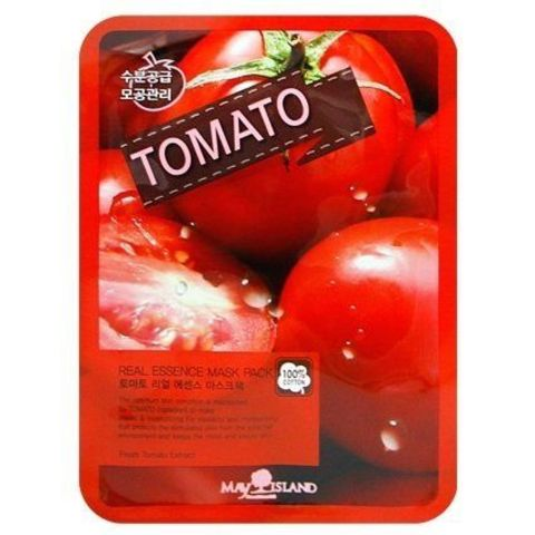 Маска для лица тканевая  с экстрактом томата, 25 мл, Real Essence Tomato Mask Pack 25мл
