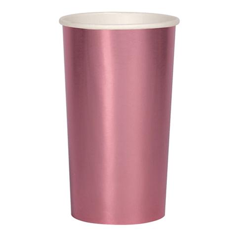 Стаканы розовые фольгированные розовые