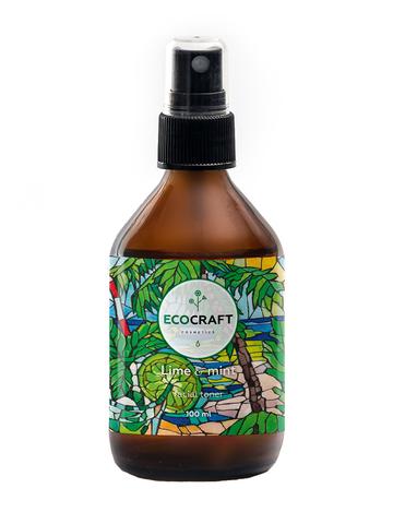 ECOCRAFT Тоник для жирной и проблемной кожи Lime and mint Лайм и мята (100 мл)