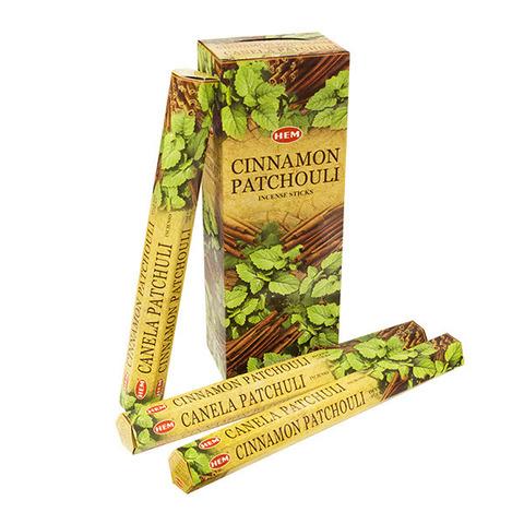 Палочки ароматические благовония HEM Корица Пачули Cinnamon Patchouli 20 шт