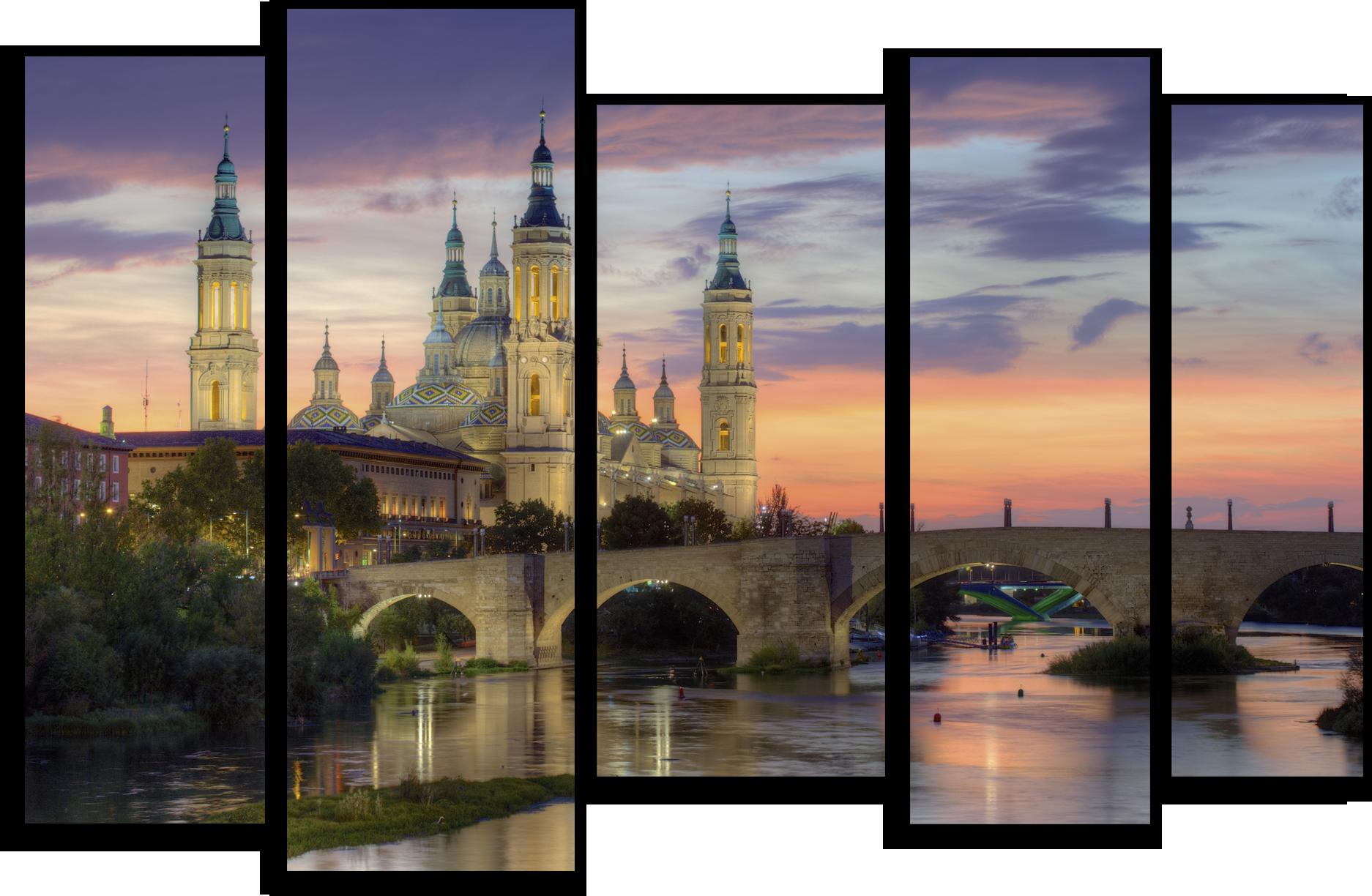 """Города Модульная картина """"Волшебный замок"""" М405.png"""