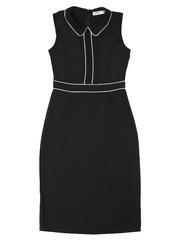 GDR009114 Платье женское. черно-молочное