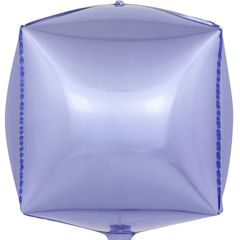К Шар 3D Куб, Сиреневый, 24''/61 см, 1 шт.