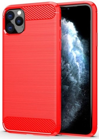Чехол iPhone 11 Pro цвет Red (красный), серия Carbon, Caseport